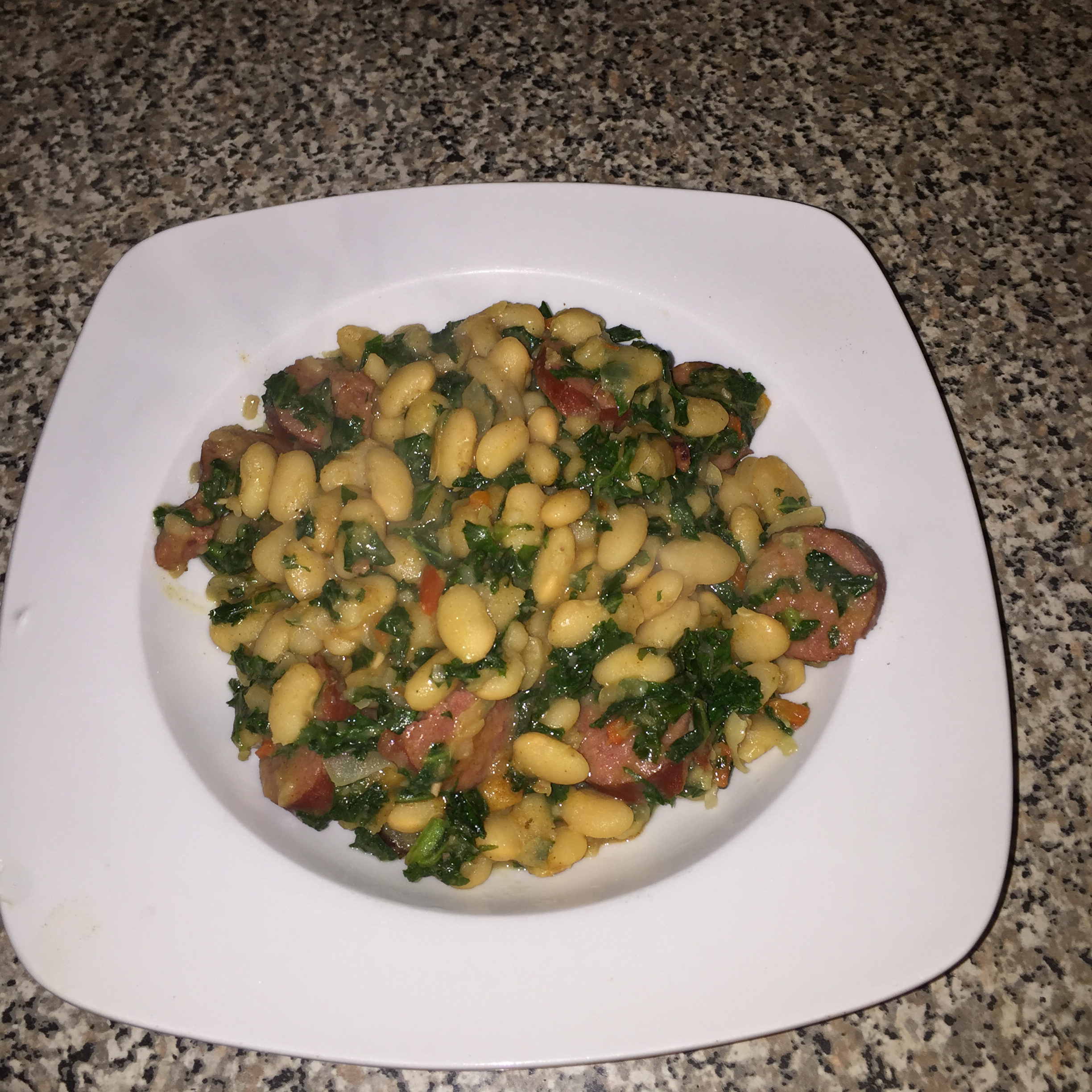 Spanish Style White Bean and Sausage Soup Michelle MC