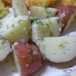 Garlic Dill New Potatoes Casablancaise