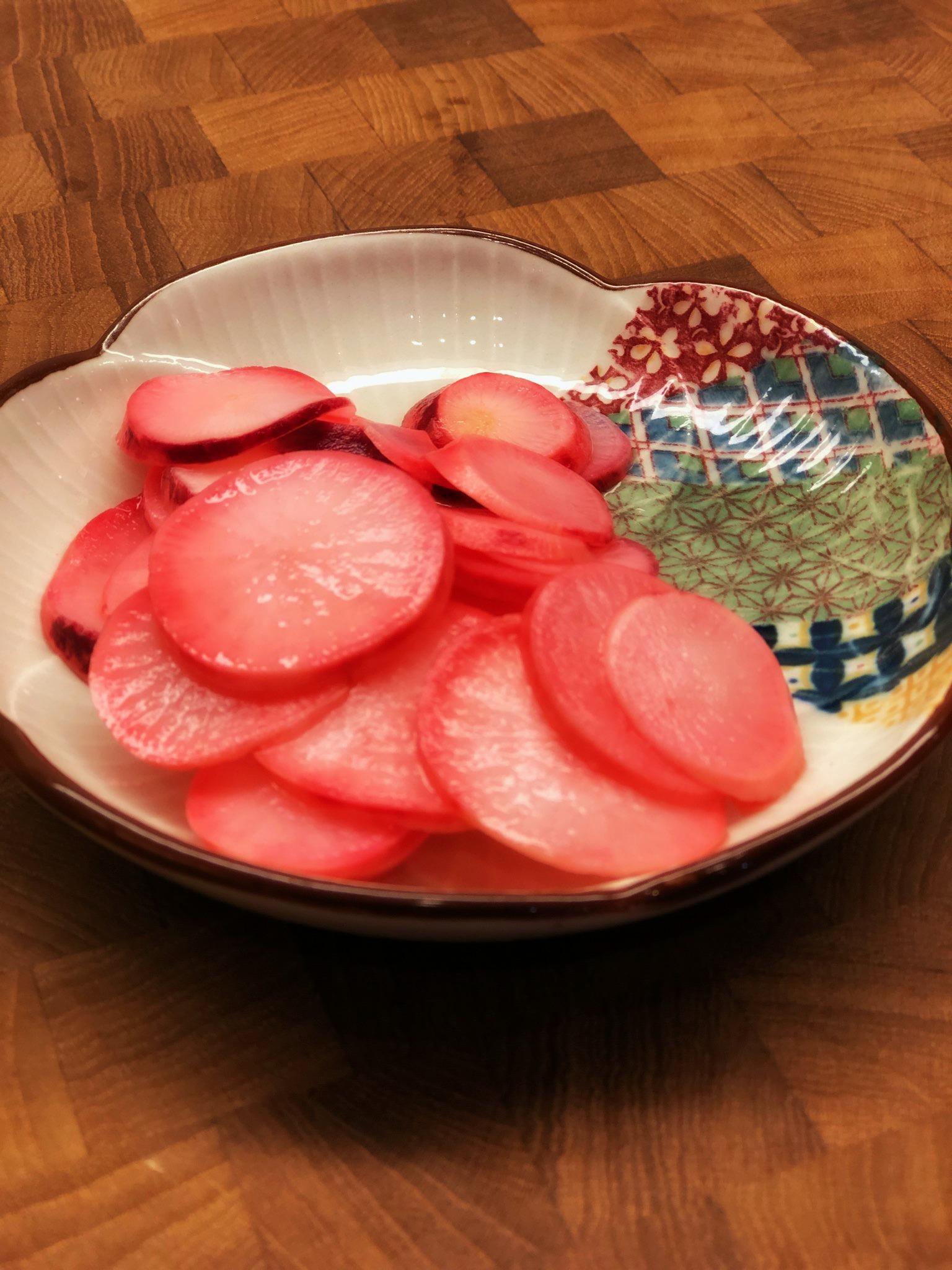 Easy Pickled Red Radishes
