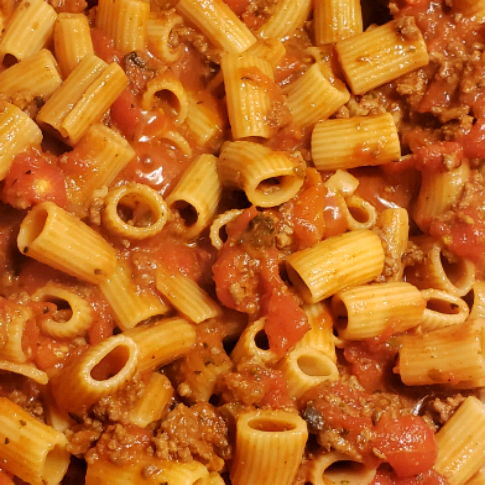 Rigatoni with Pizza Accents Brandy Beauchamp