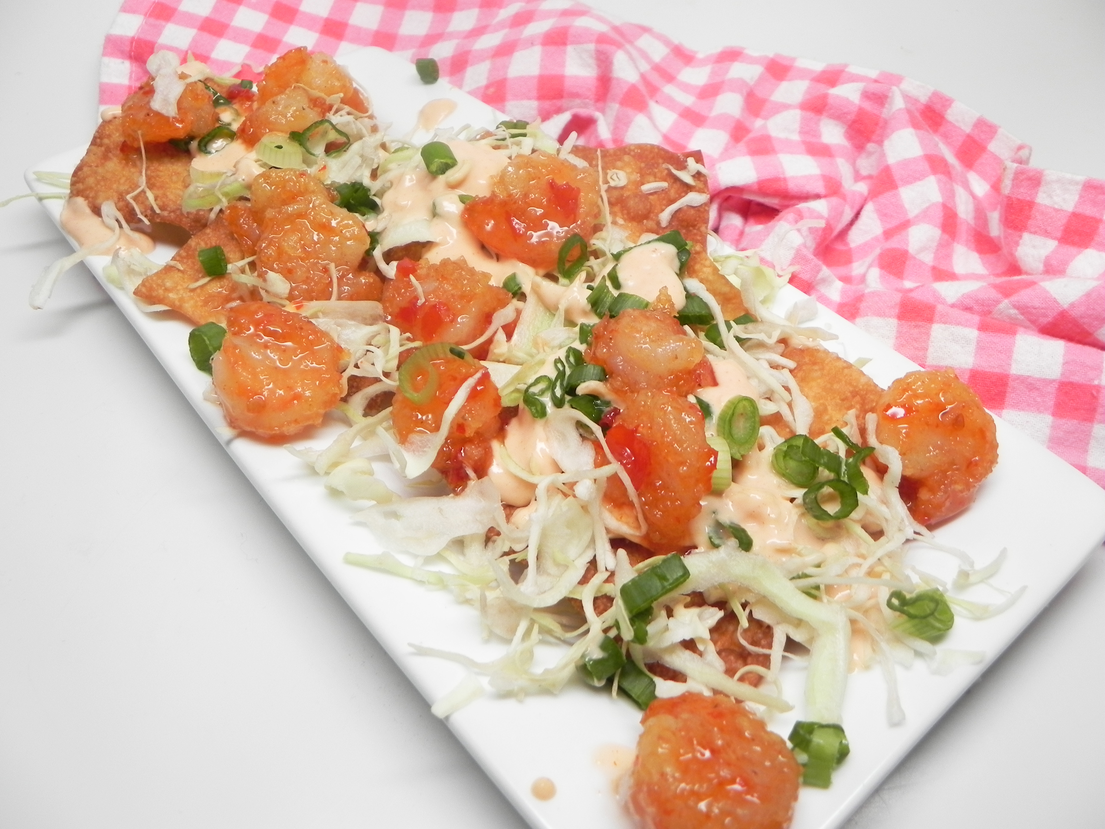 Asian Shrimp Nachos