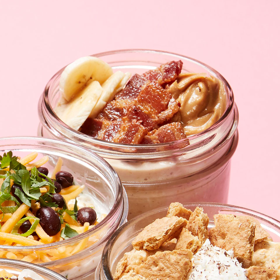 Peanut Butter, Banana & Bacon Overnight Oats Joyce Hendley