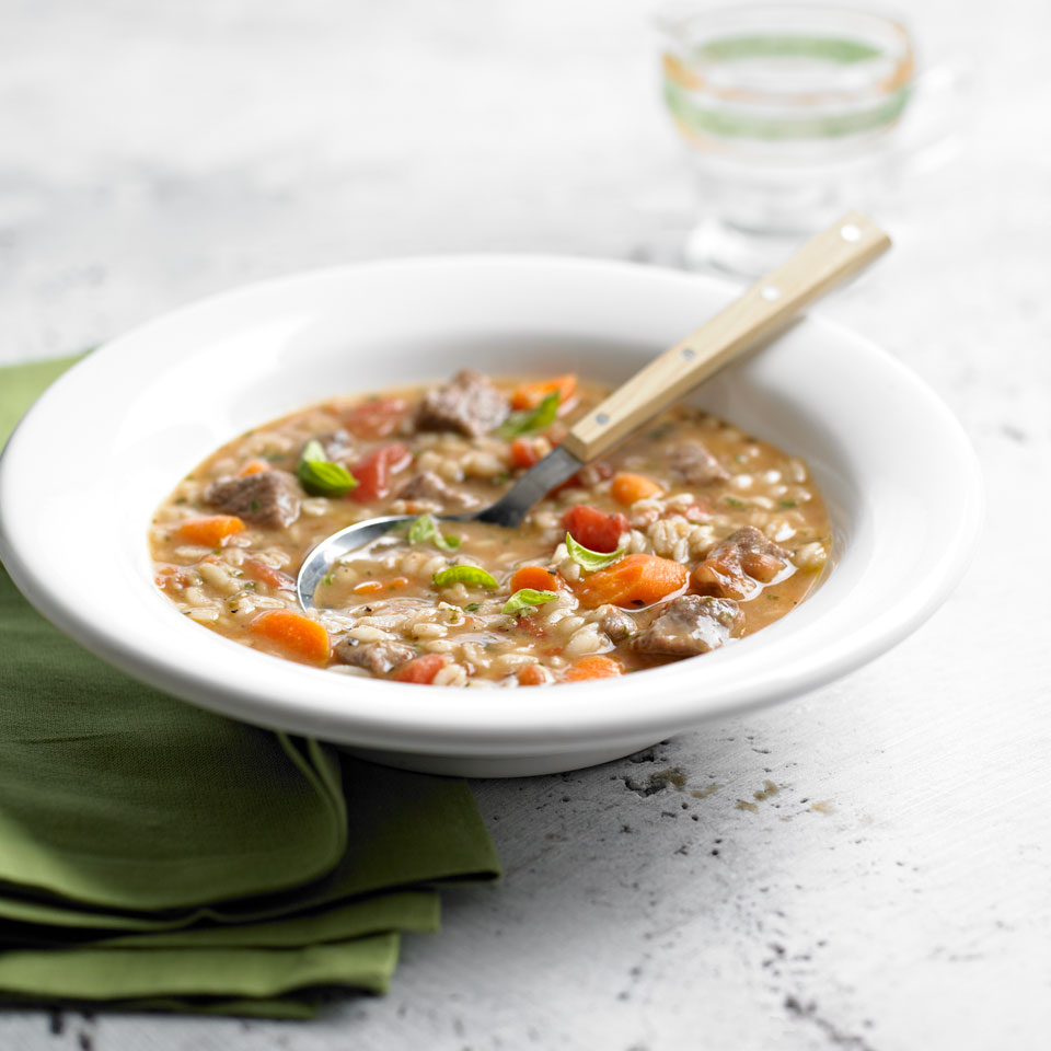 There's something so satisfying about a hearty bowl of beef and barley soup--especially when it's one you've made from scratch with reduced-sodium broth and chunks of delicious sirloin steak. This slow-cooker recipe is simple to prepare, serves six, and is a great alternative to canned soup!