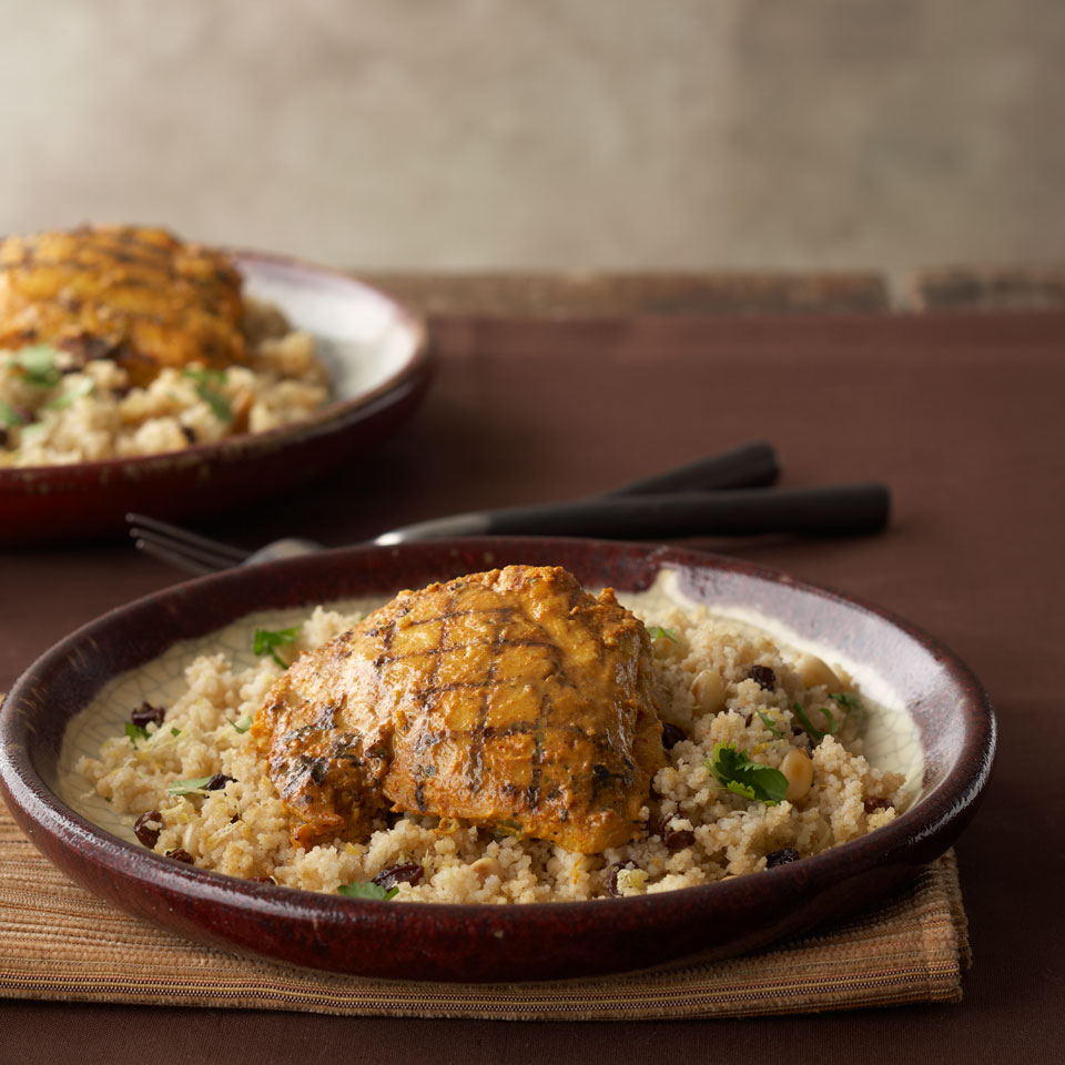 Tandoori Chicken Thighs with Lemon Couscous Diabetic Living Magazine