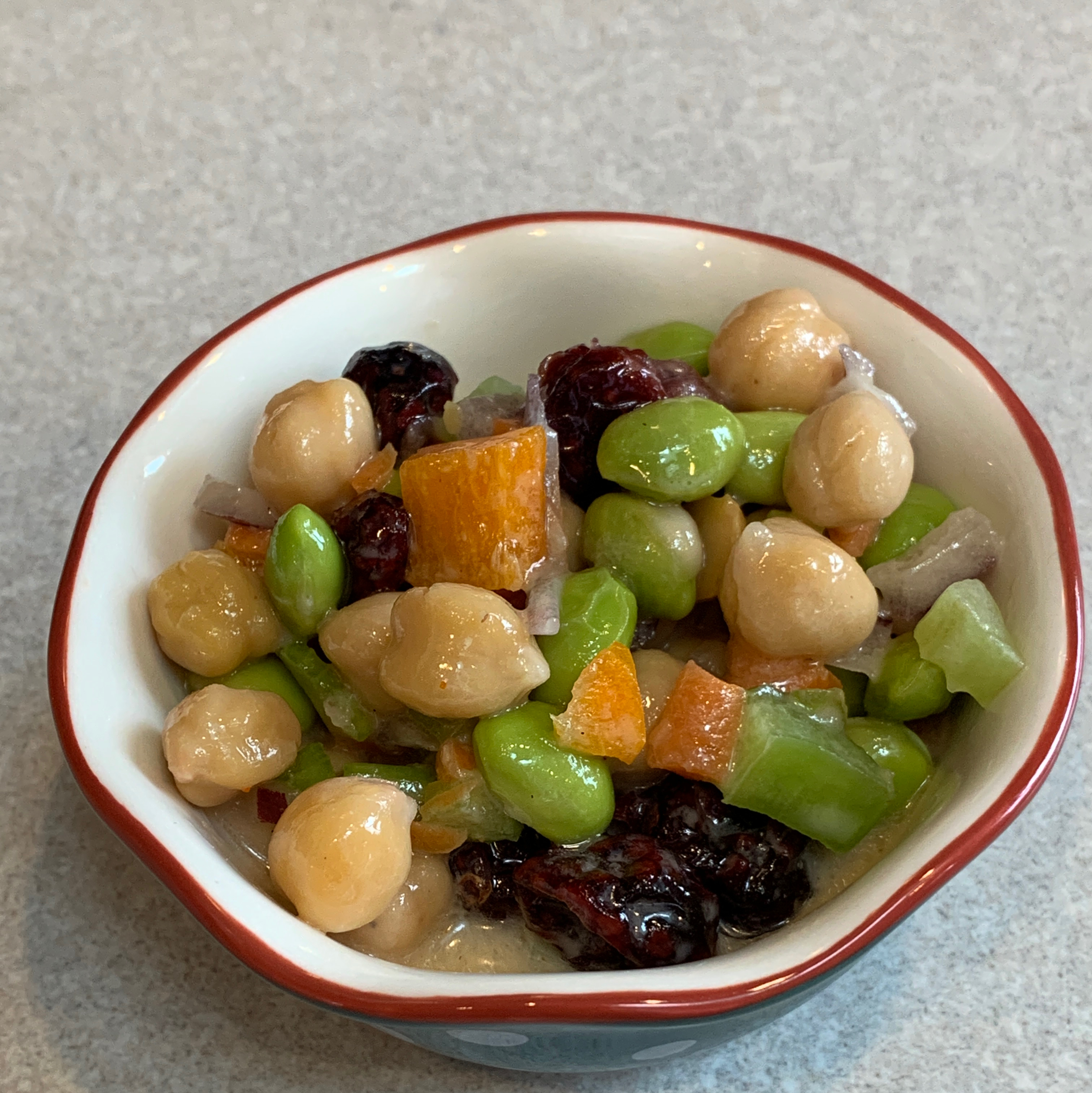 Chickpea and Edamame Salad Angela Petersen Sherbert