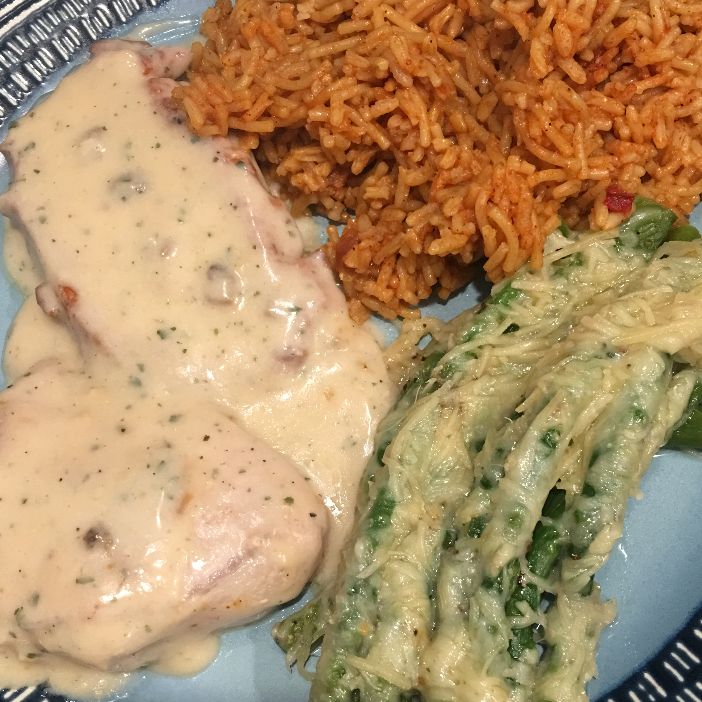 Creamy Ranch Pork Chops and Rice Alicia Eisenhauer