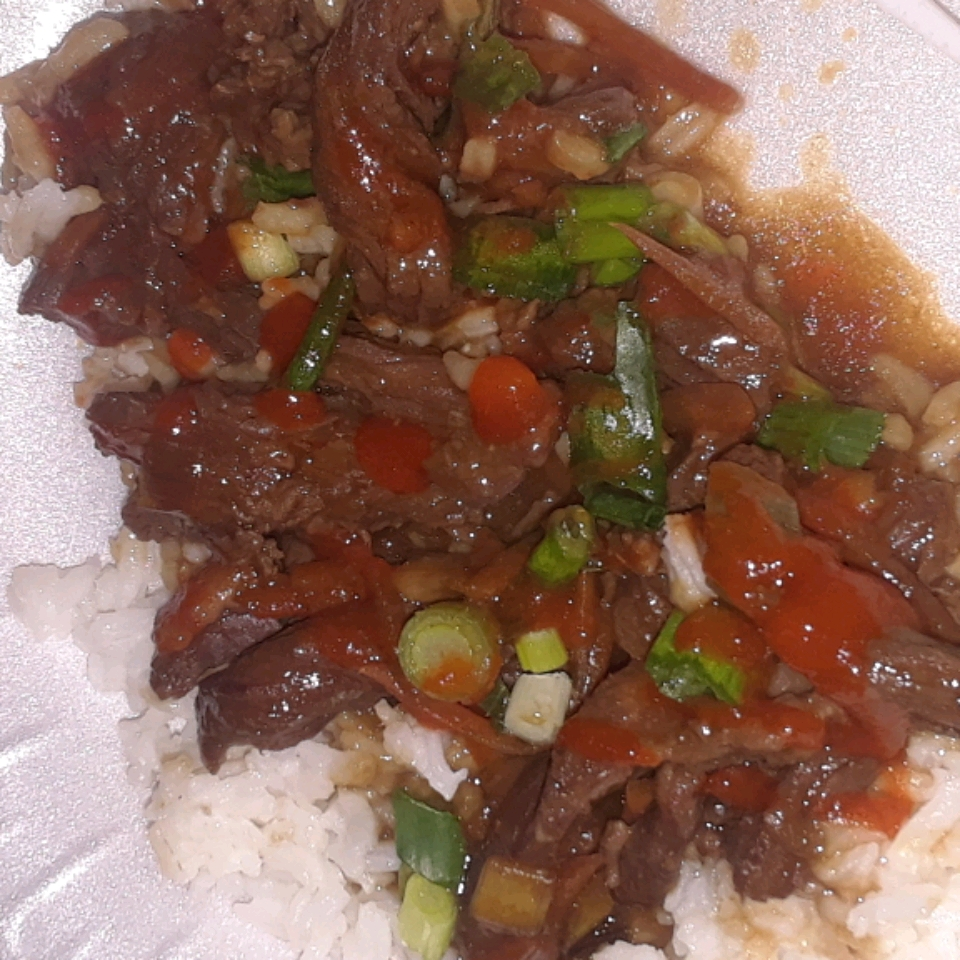 Mongolian Beef from the Slow Cooker