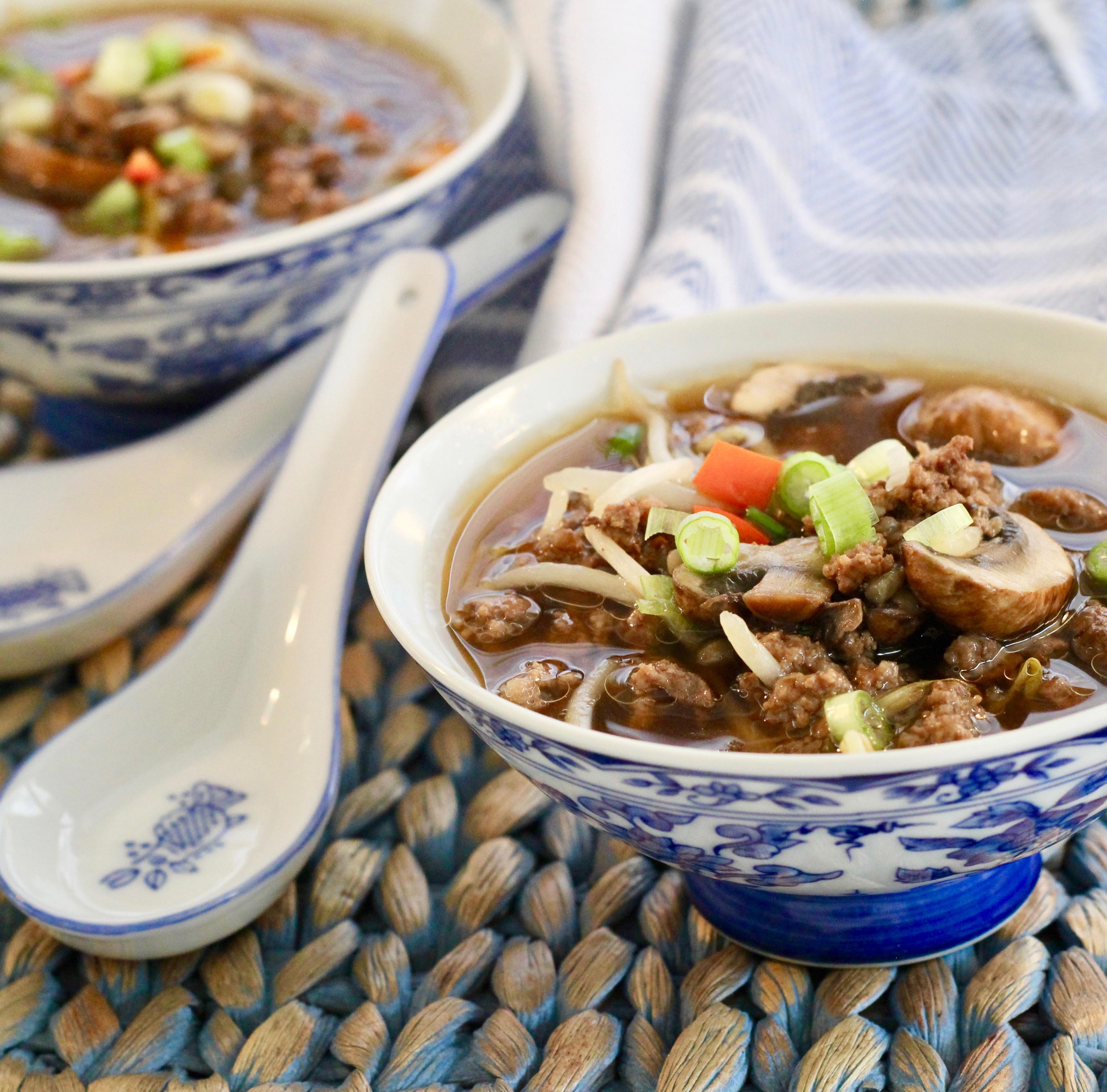 Asian Burger Soup