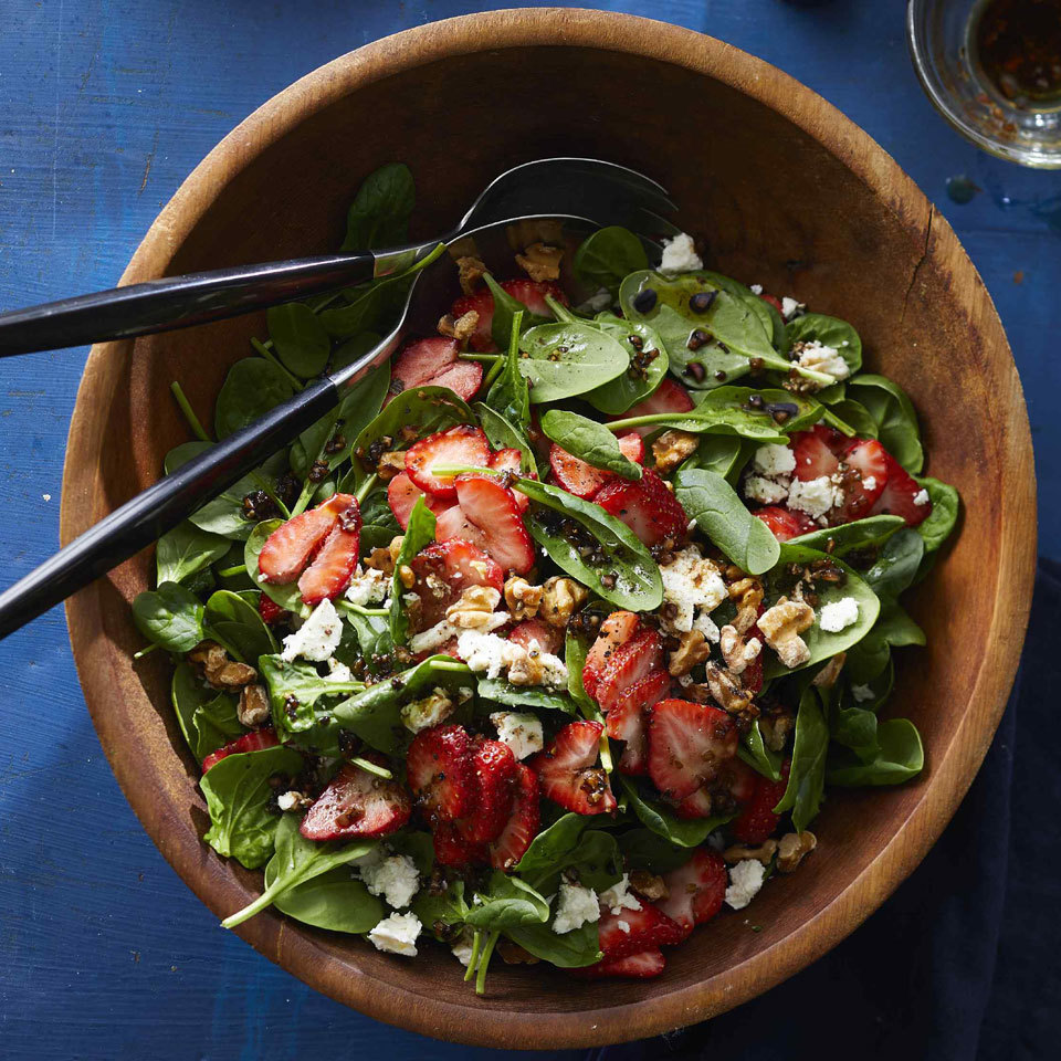 Spinach-Strawberry Salad with Feta & Walnuts Trusted Brands