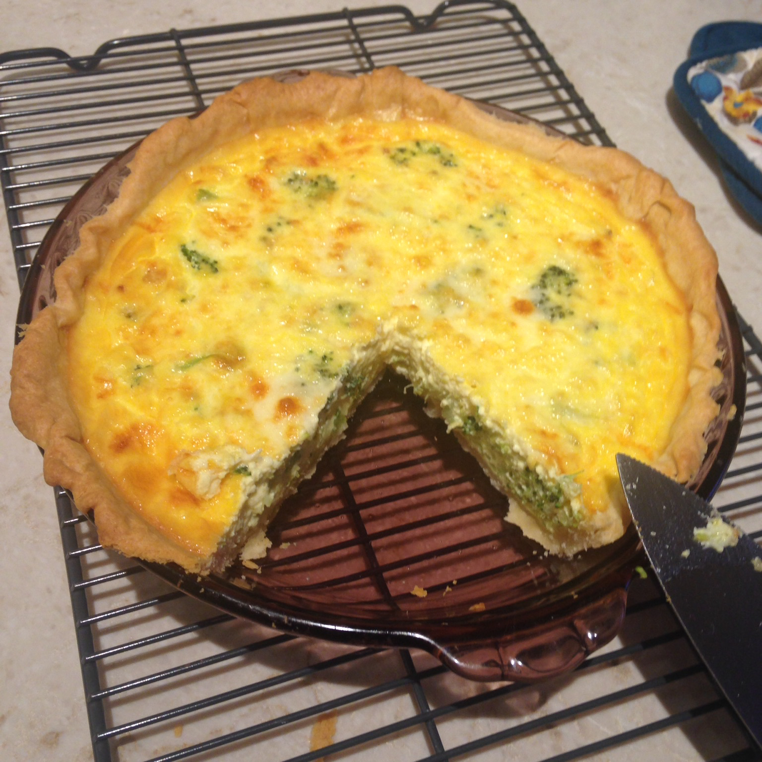 Broccoli and Provolone Quiche xieouyang