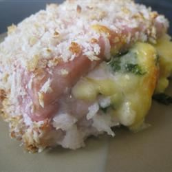 Gouda and Spinach Stuffed Pork Chops mommyluvs2cook