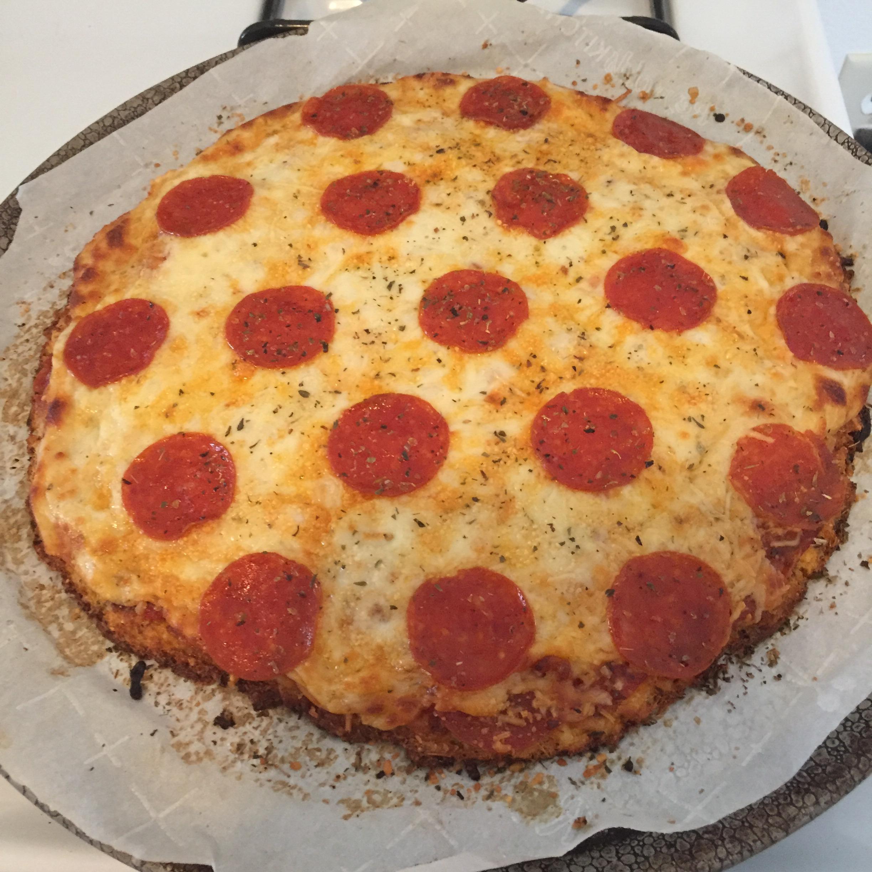 Cheesy Cauliflower Pizza Crust Crystal Davidson