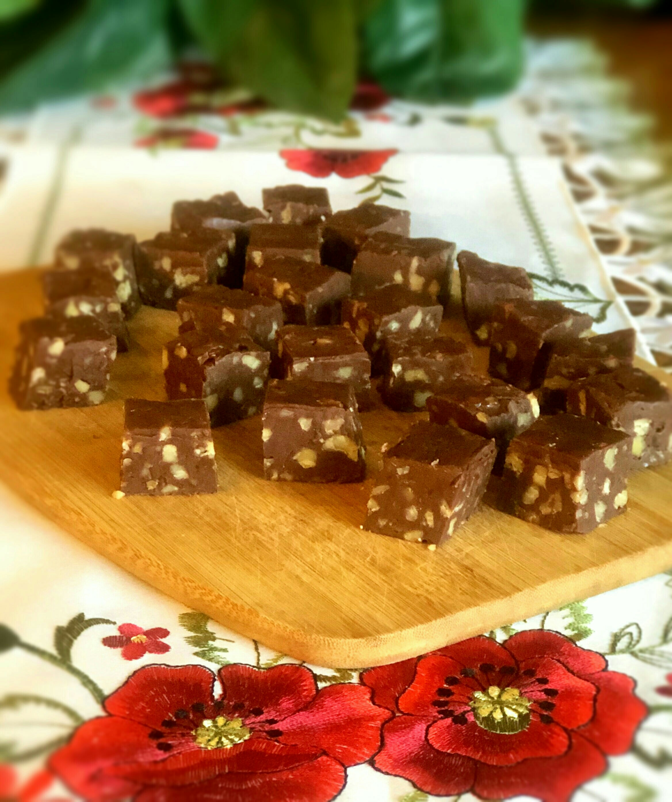 One Bowl Chocolate Fudge with Pecans