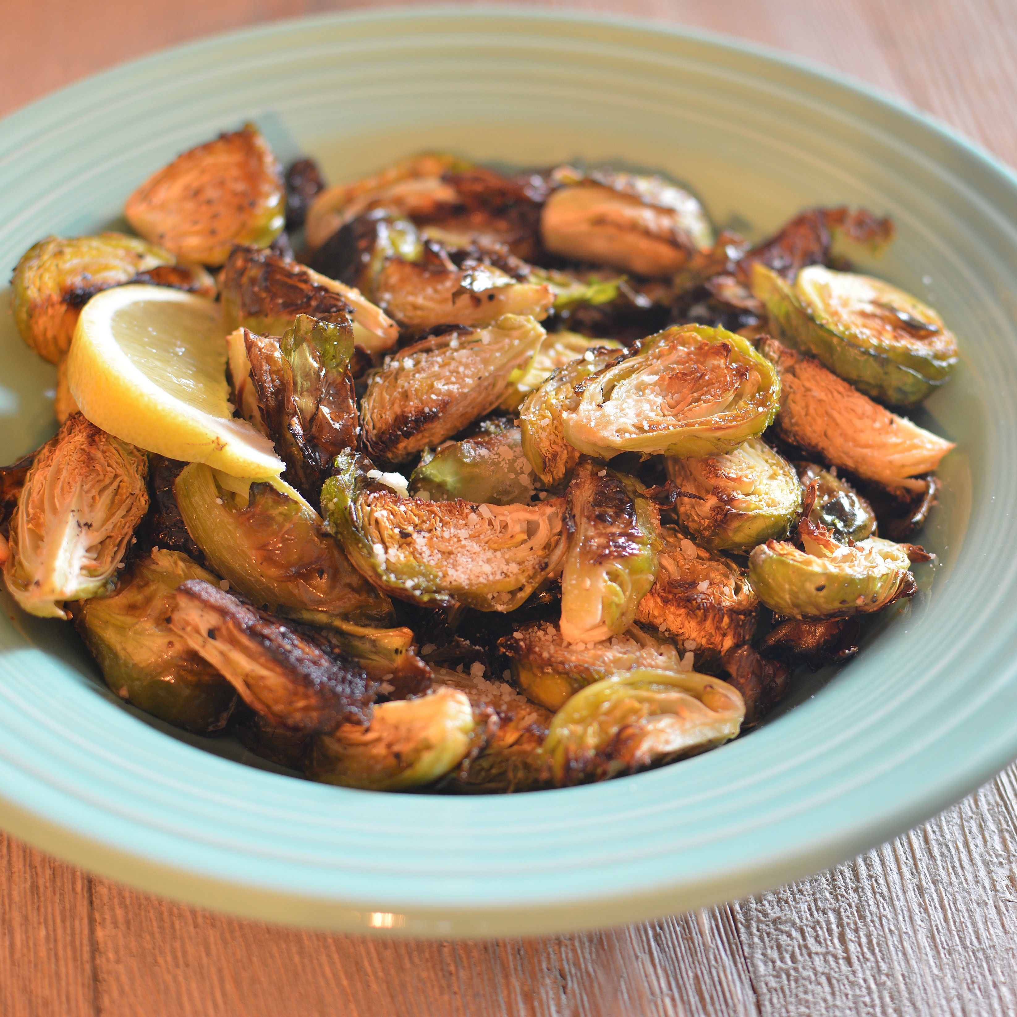 Roasted Brussels Sprouts with Parmesan and Lemon