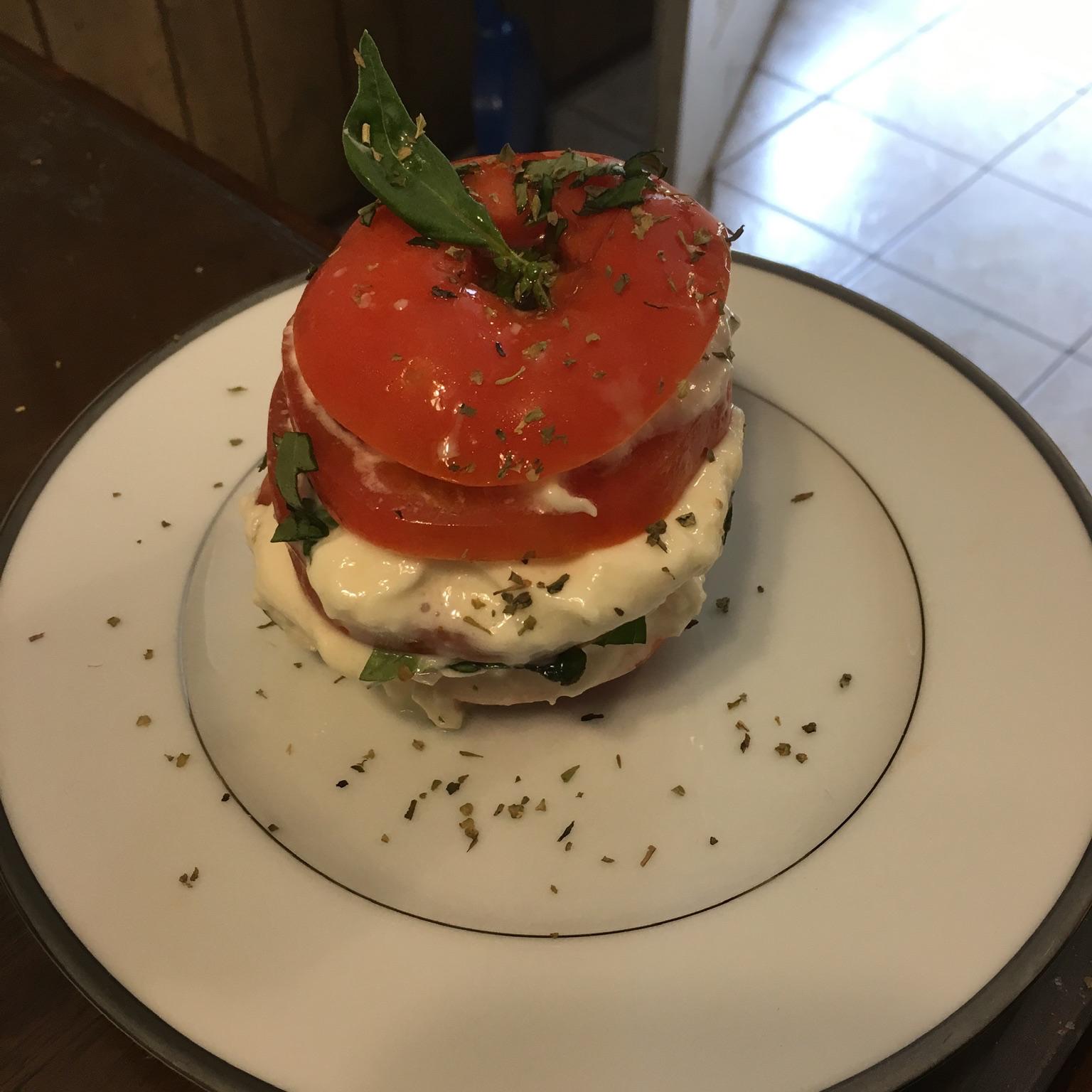 Stacked Tomato and Burrata Salad