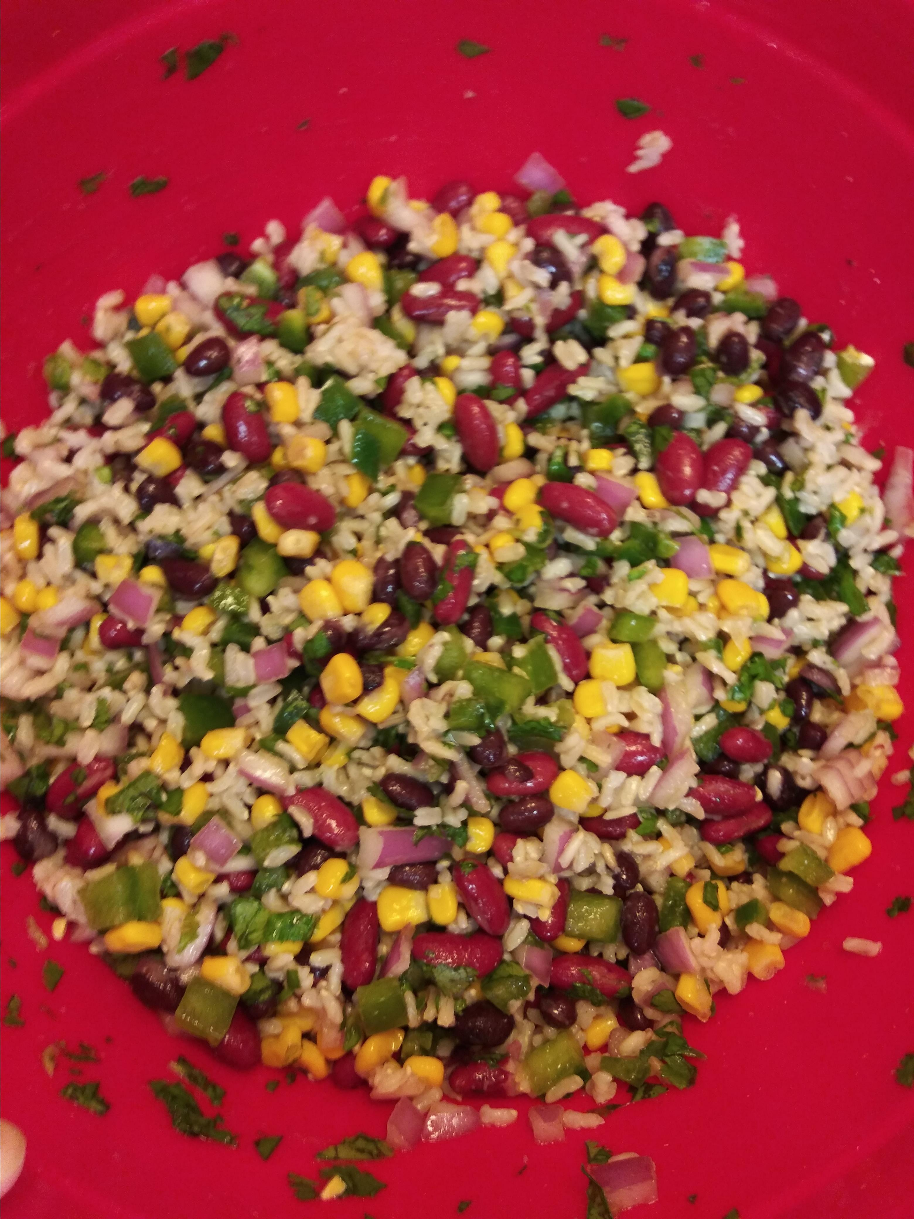 Mexican Bean and Rice Salad RookieCookie