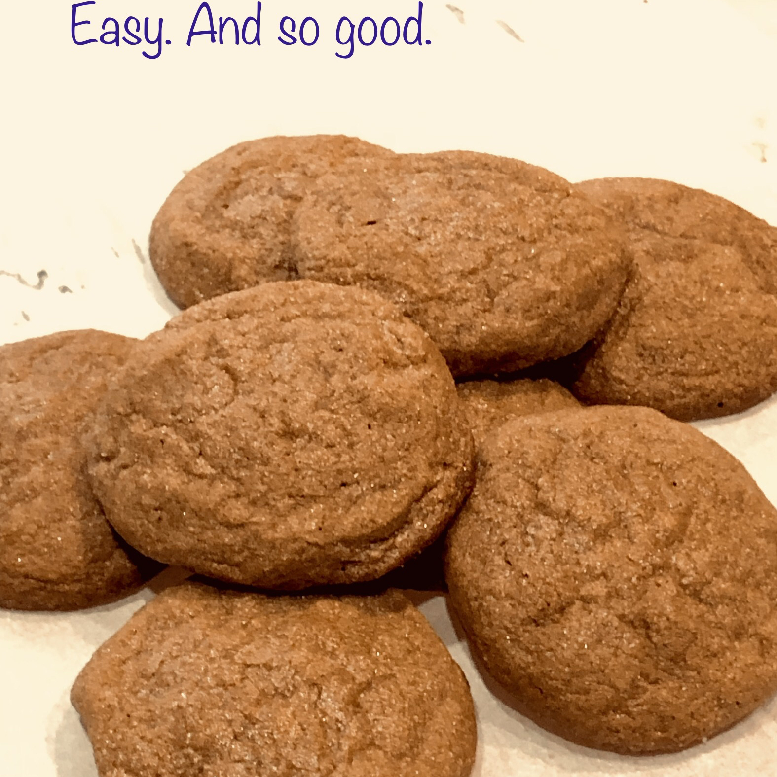 Easy Chewy Ginger Cookies Stevie T