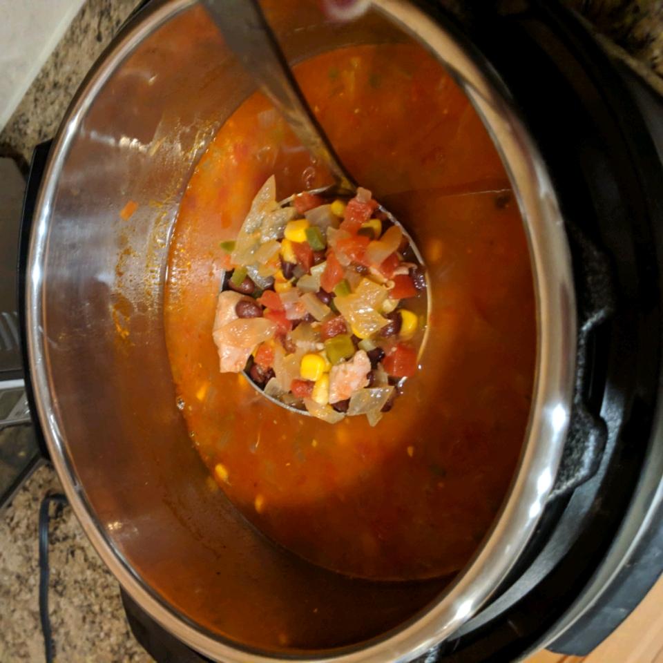 Southwest Black Bean Chicken Soup chana