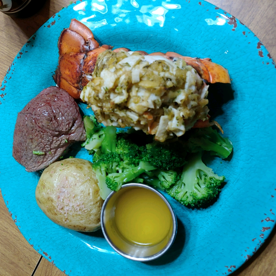 Crab-Stuffed Lobster Tail Michael