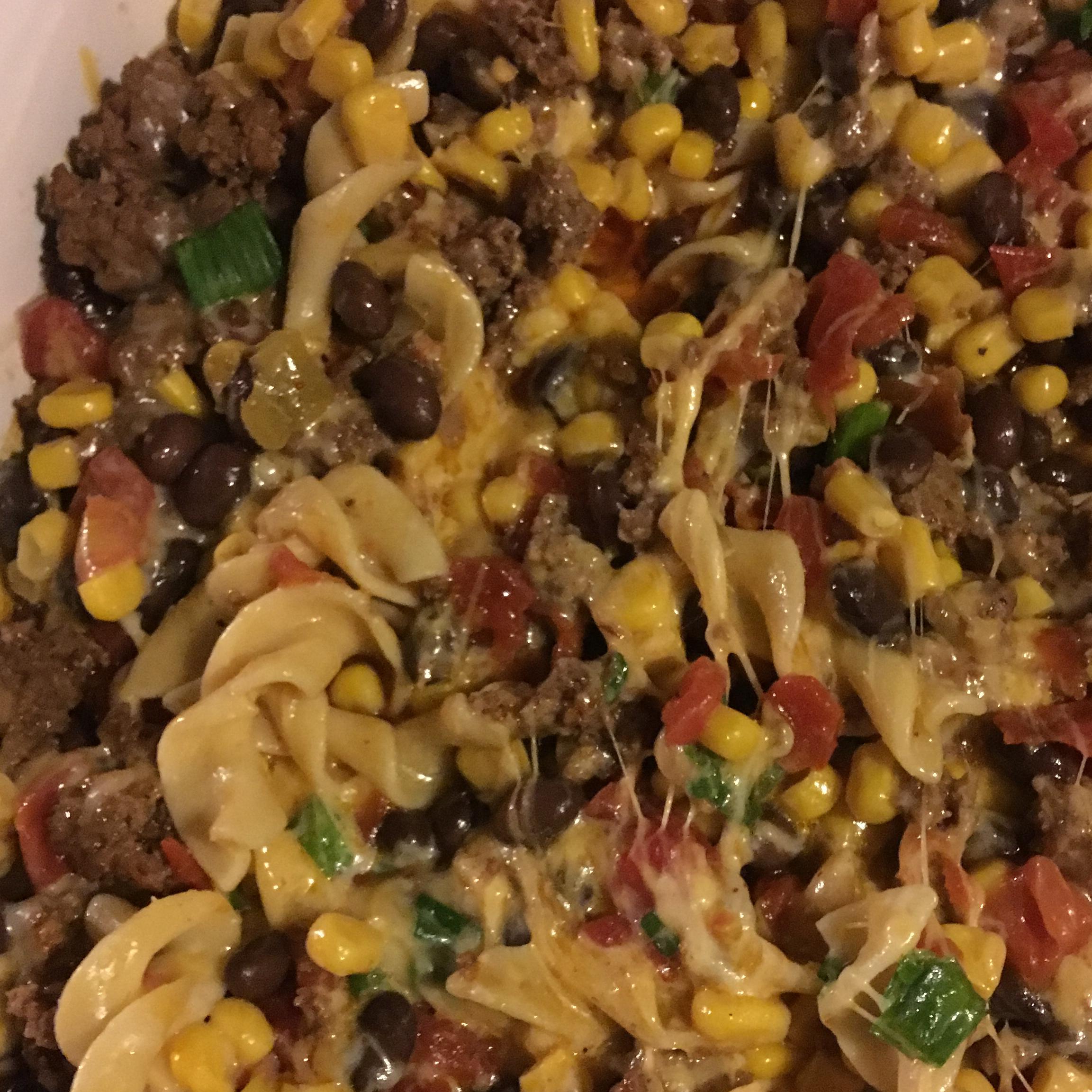 Beef Taco Noodle Bake