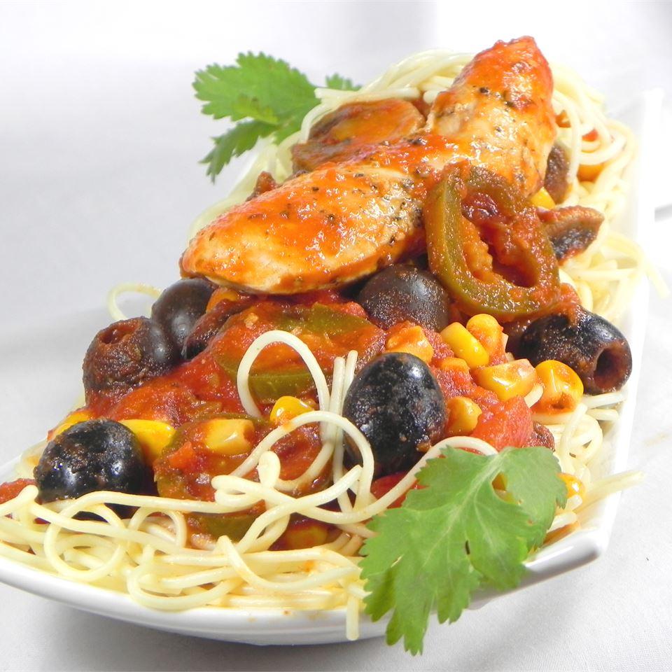 Spicy Chicken Spaghetti Soup Loving Nicole