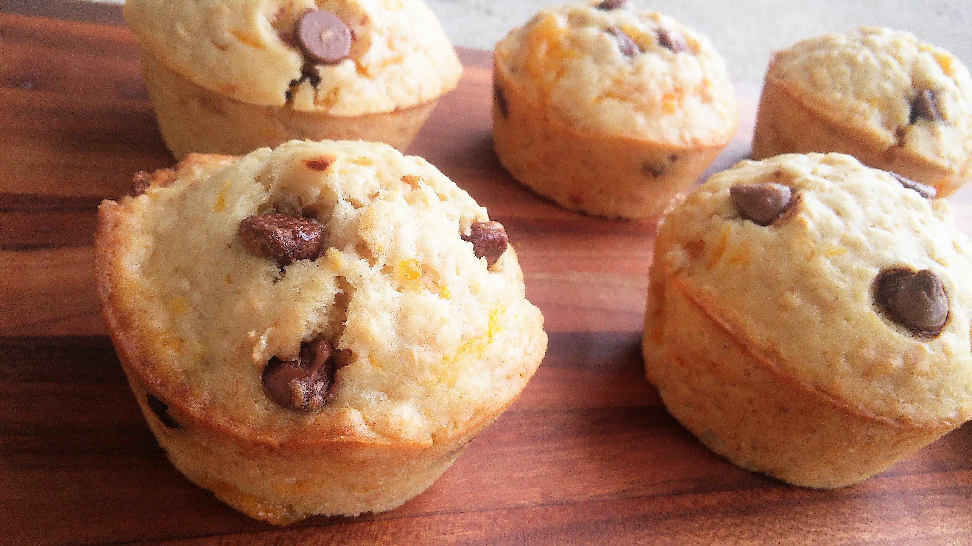 Vegan Orange Chocolate Oatmeal Muffins Theo
