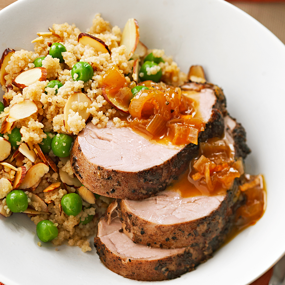 Pork Tenderloin with Sweet-Spiced Onions Diabetic Living Magazine