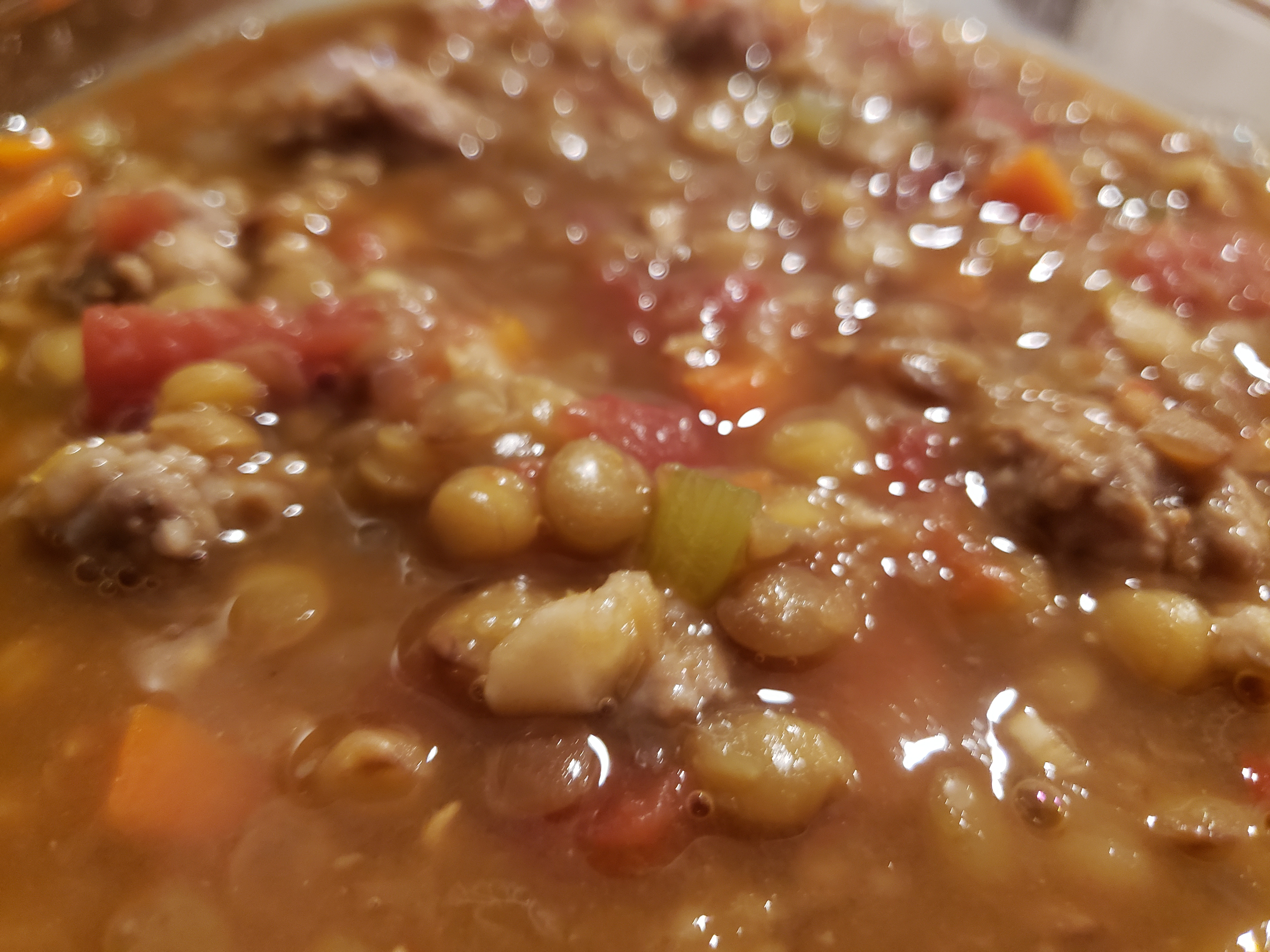 Easy Lentil-Sausage Soup phdsunflower