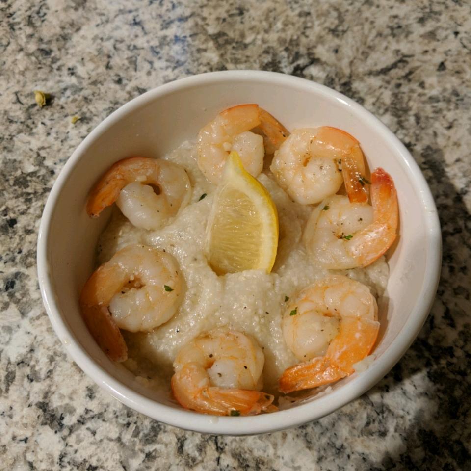 Lemon-Garlic Shrimp and Grits Al Mardt