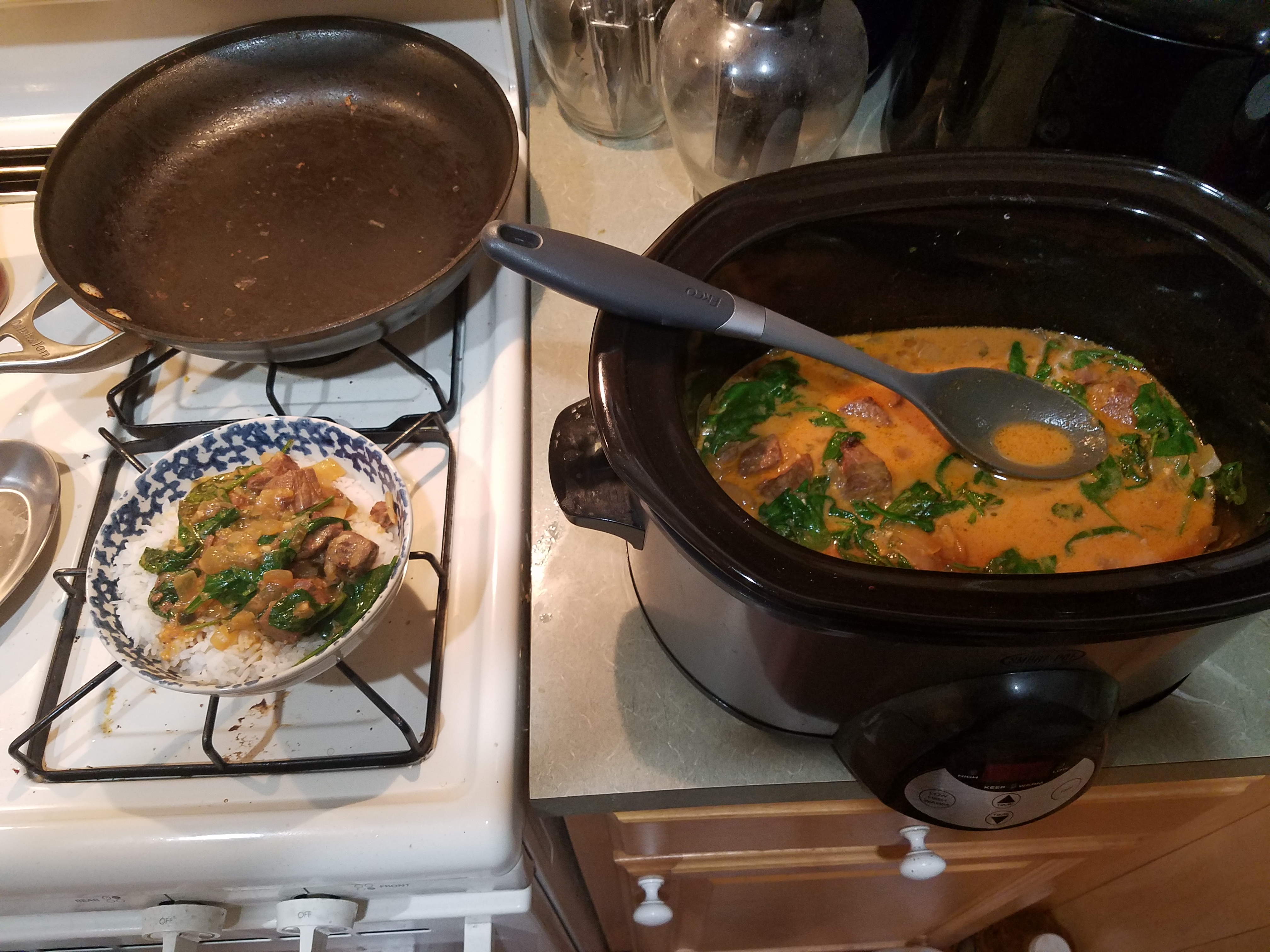 Slow Cooker Thai Curried Beef