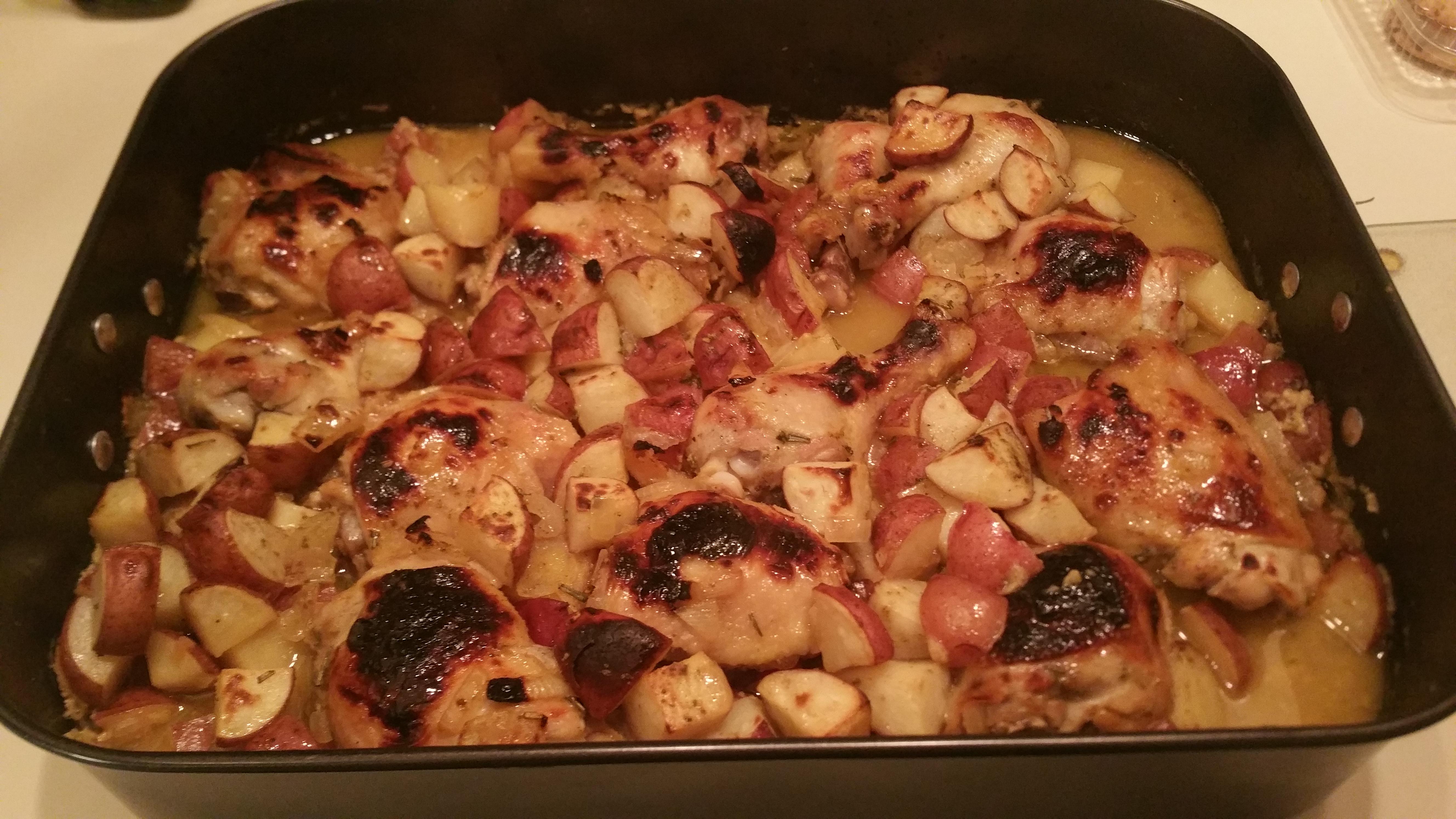 Easy Honey-Mustard Chicken and Potato Bake Steve B