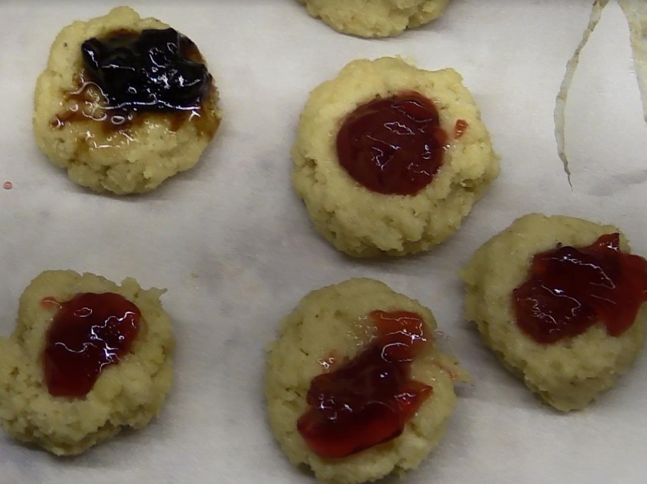 Air Fryer Keto Thumbprint Cookies