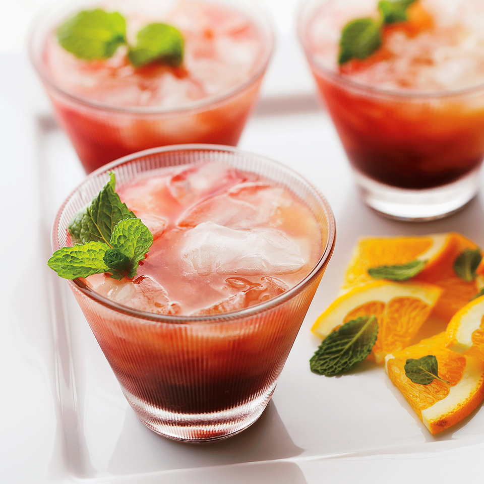 This beautiful beverage is perfect for serving at brunch, but it's also a great mocktail for non-drinkers at your next cocktail party. If you have leftover peach nectar from this recipe, pour a splash into hot tea to add sweetness and satisfying fruit flavor.