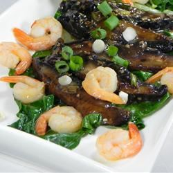 Chinese-Style Baby Bok Choy with Mushroom Sauce