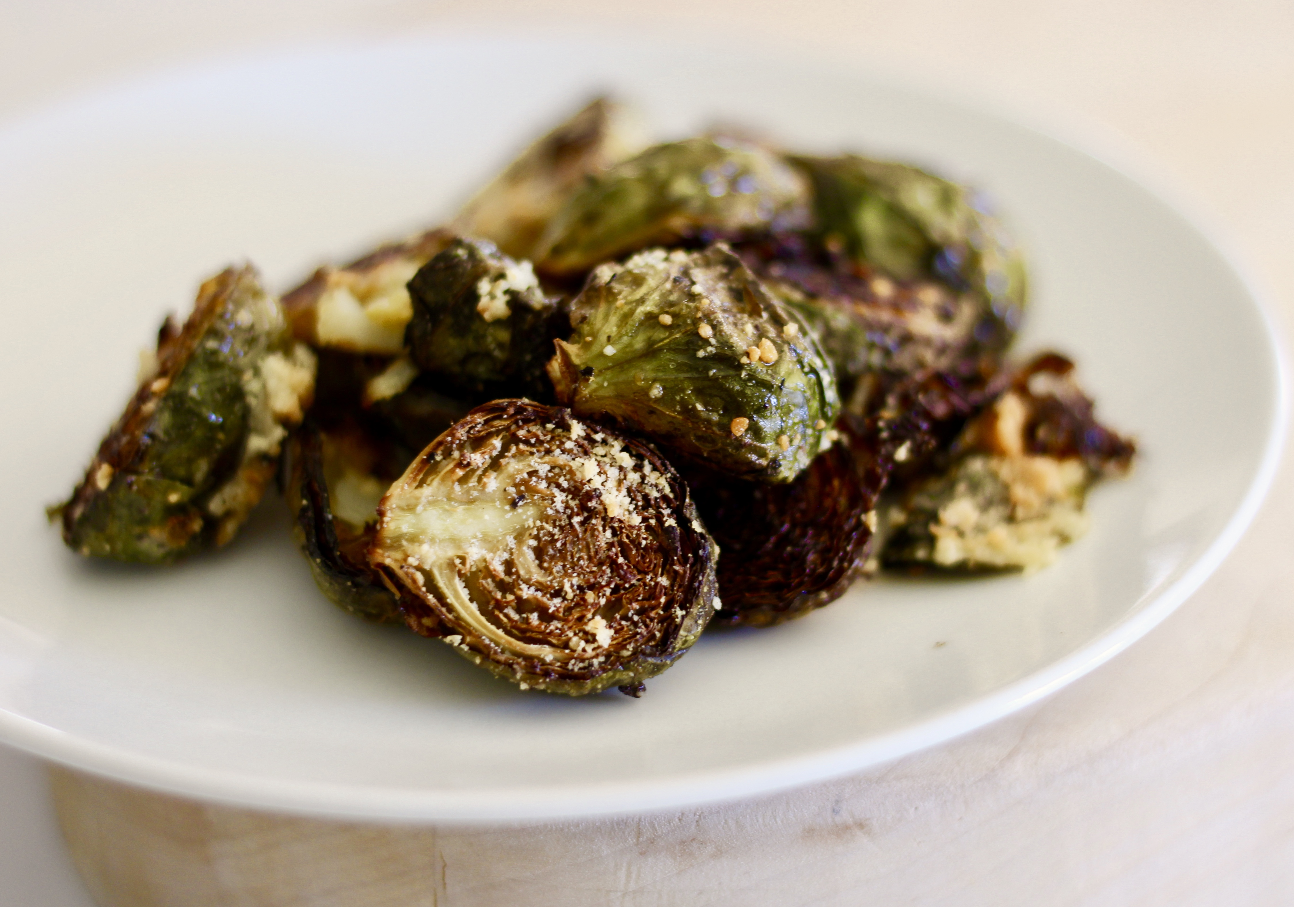 Garlic-Parmesan Roasted Brussels Sprouts BessieMo