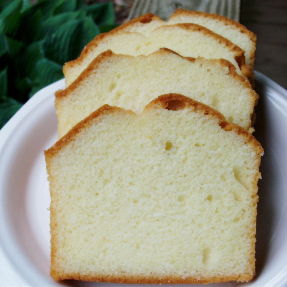 "Community member WHOLEGRAINWOMAN shared this recipe with us and says, ""This recipe is over 100 years old and is the original kind of pound cake: it contains 1 pound each of butter, sugar, eggs and flour and contains no salt, baking powder or flavoring (but flavoring such as vanilla extract or almond extract can be added if desired!)"""