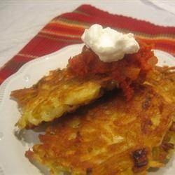 Mexican Potato Pancakes Loves2Cook