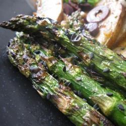 Grilled Soy-Sesame Asparagus