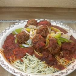 Spaghetti and Meatballs Yvette
