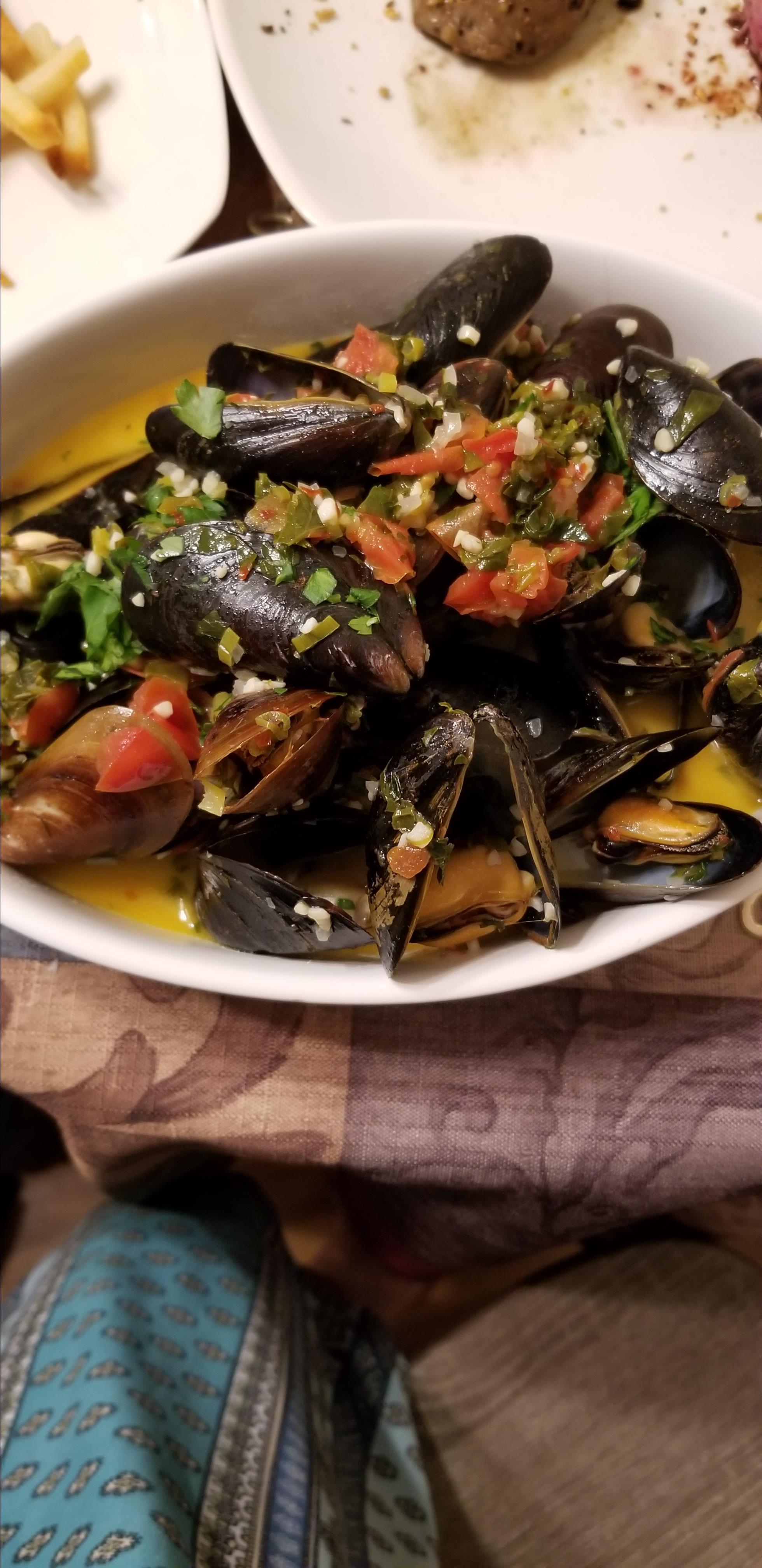 Patti's Mussels a la Mariniere