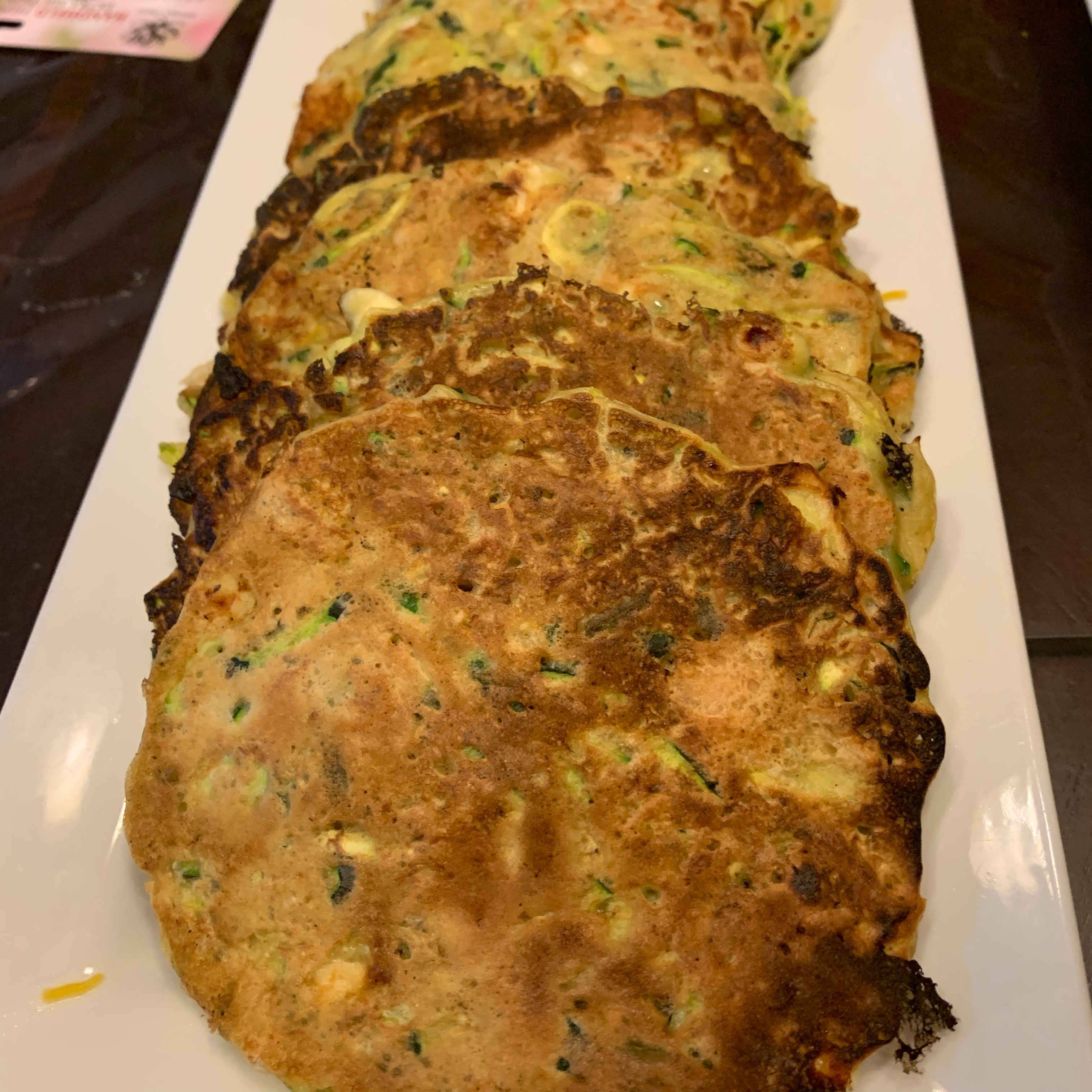 Chicken, Chive, and Feta Zucchini Fritters