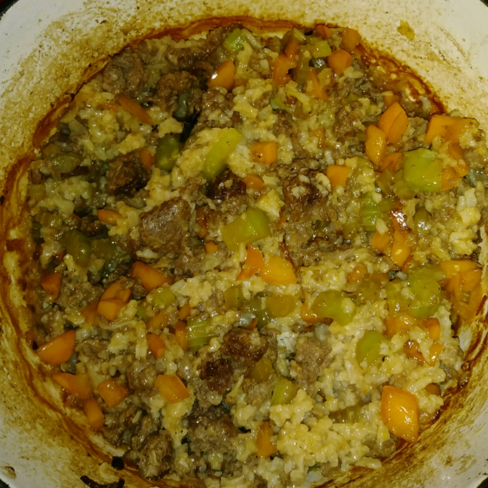 My Mom's Sausage and Rice Casserole Momma.me