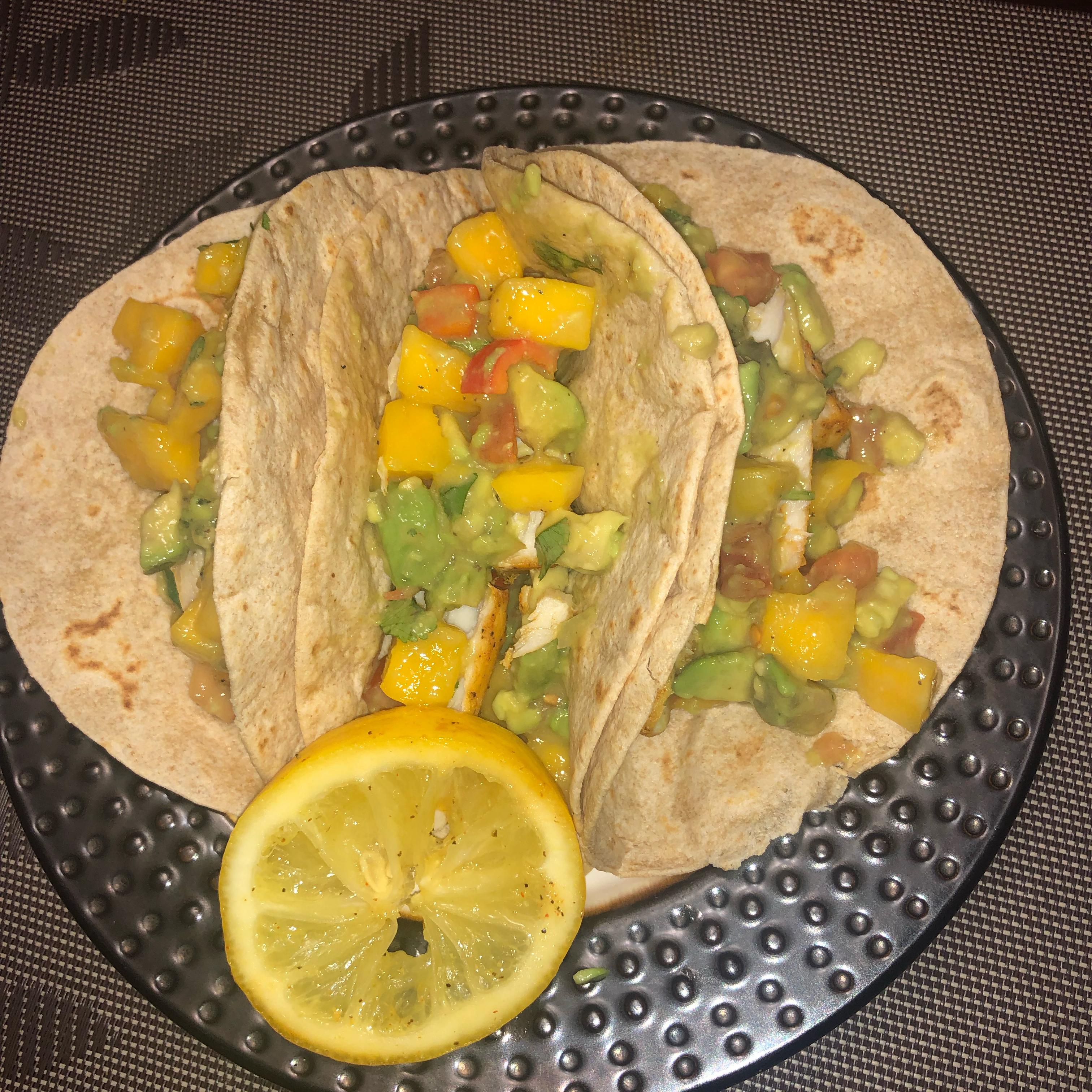 Healthy Fish Tacos with Mango Salsa Miriam Bautista