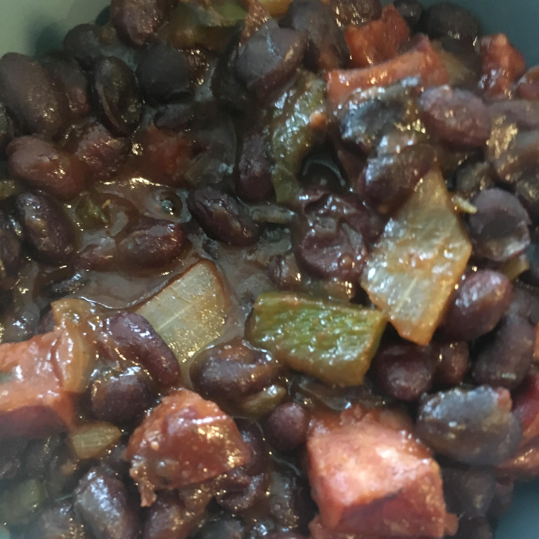 Tex-Mex Smoked Sausage Baked Beans Isabella Hong