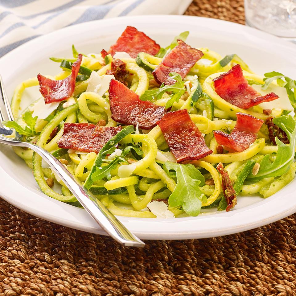 Turkey Bacon Zucchini Pasta