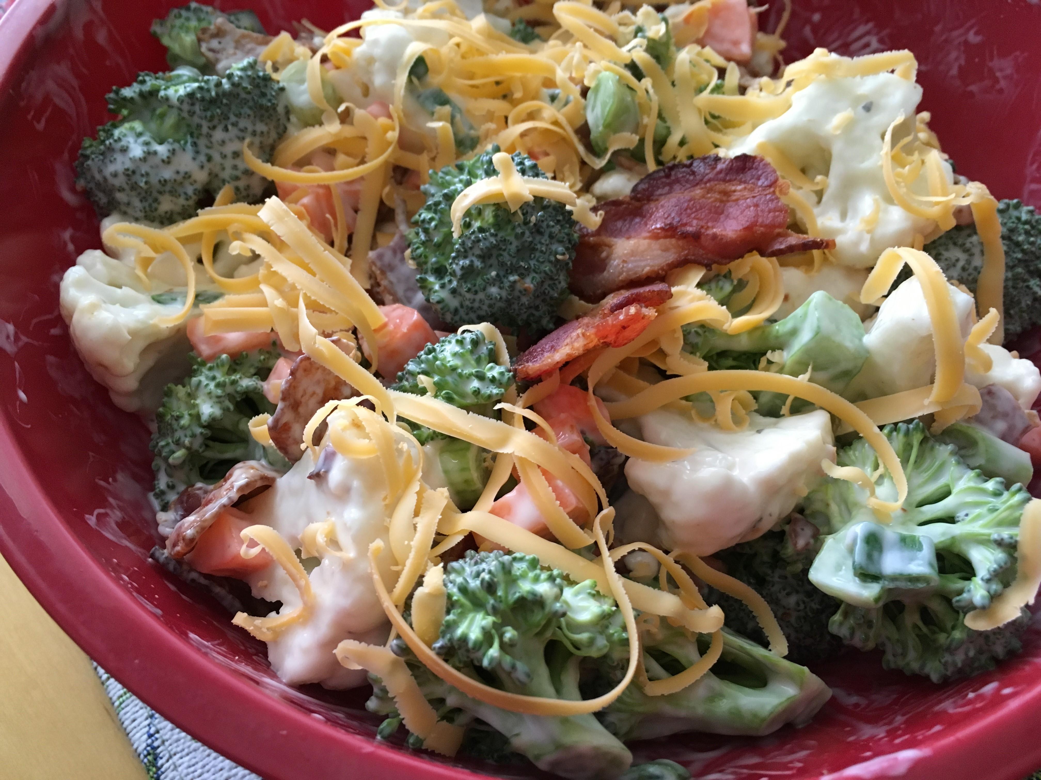 Keto Broccoli Salad virgi