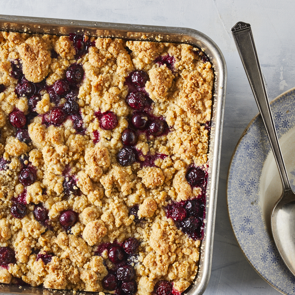 This blueberry cobbler is a quick summer dessert and an excellent way to showcase fresh, bursting blueberries under a pillowy crust. Everything can be mixed and headed to the oven in 10 minutes. Source: EatingWell.com, March 2019