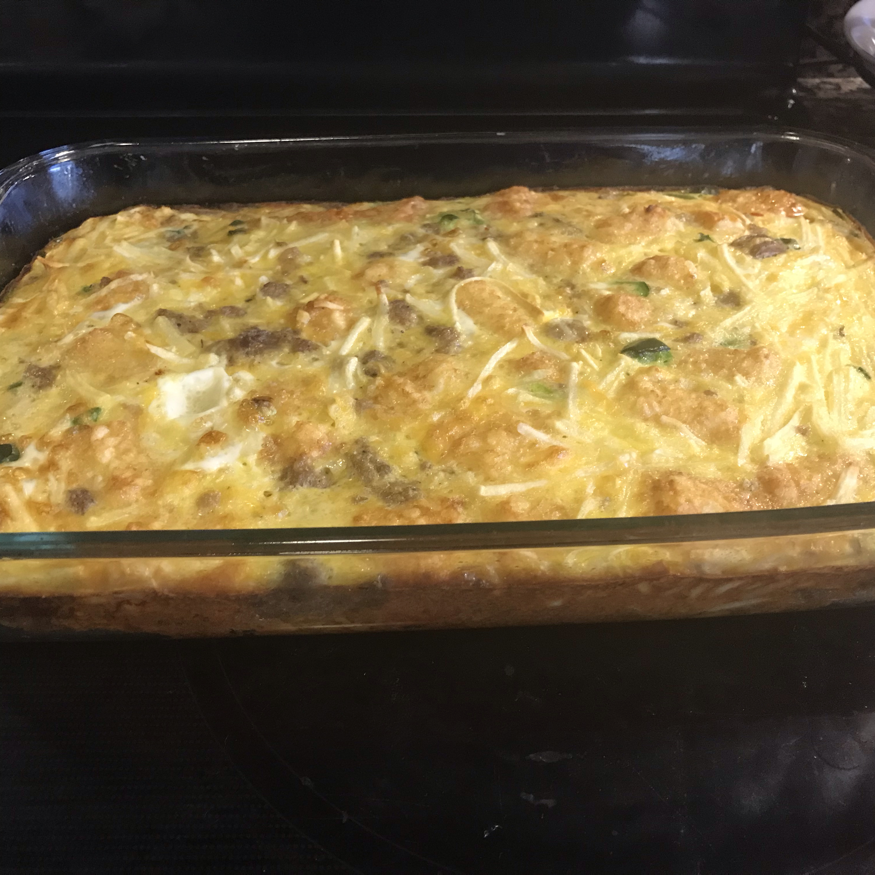 Potato, Sausage and Egg Breakfast Casserole Pam Cooking Spray