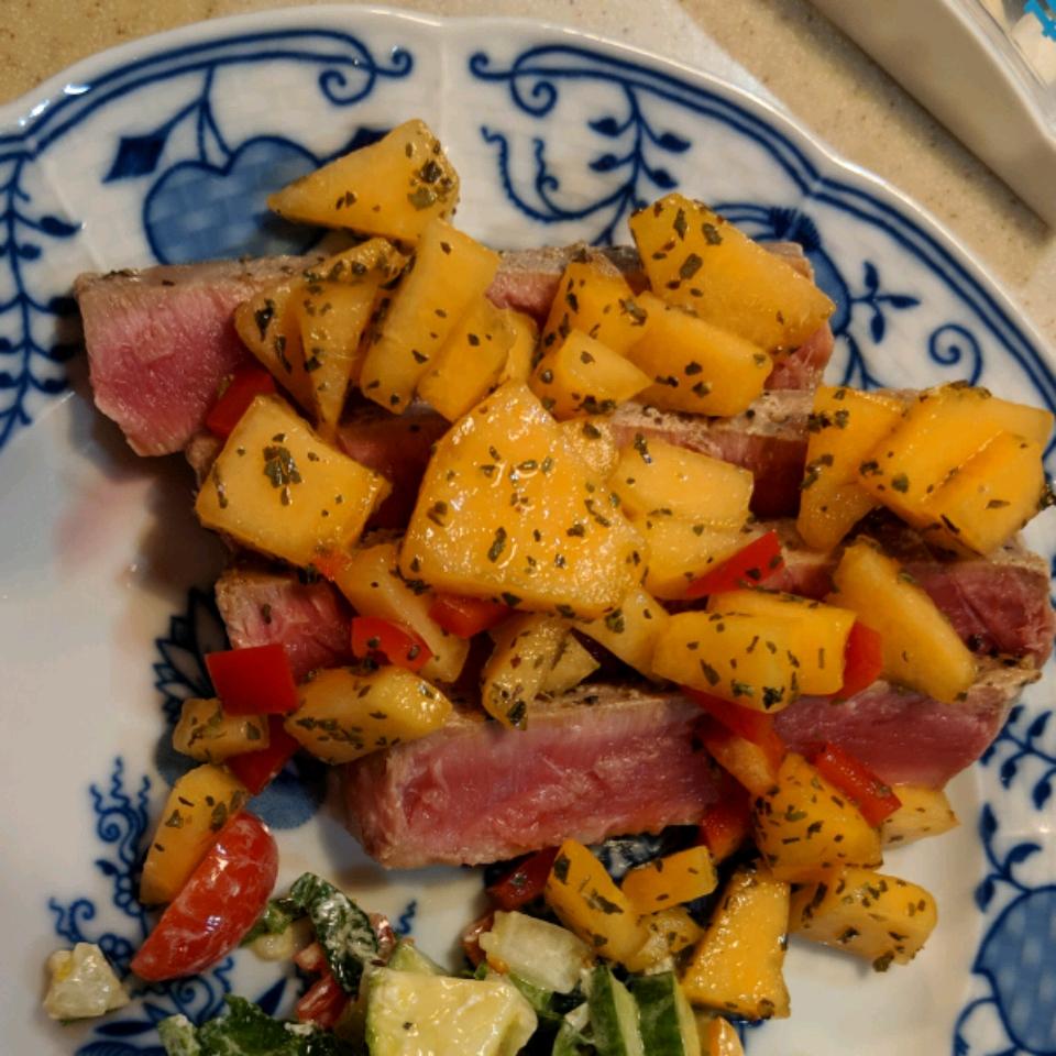 Tuna Steaks with Melon Salsa sonshaun