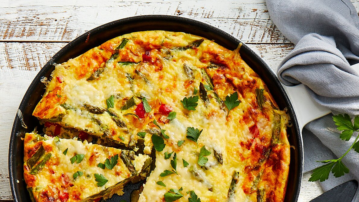 Baked Asparagus Cheese Frittata Recipe Eatingwell